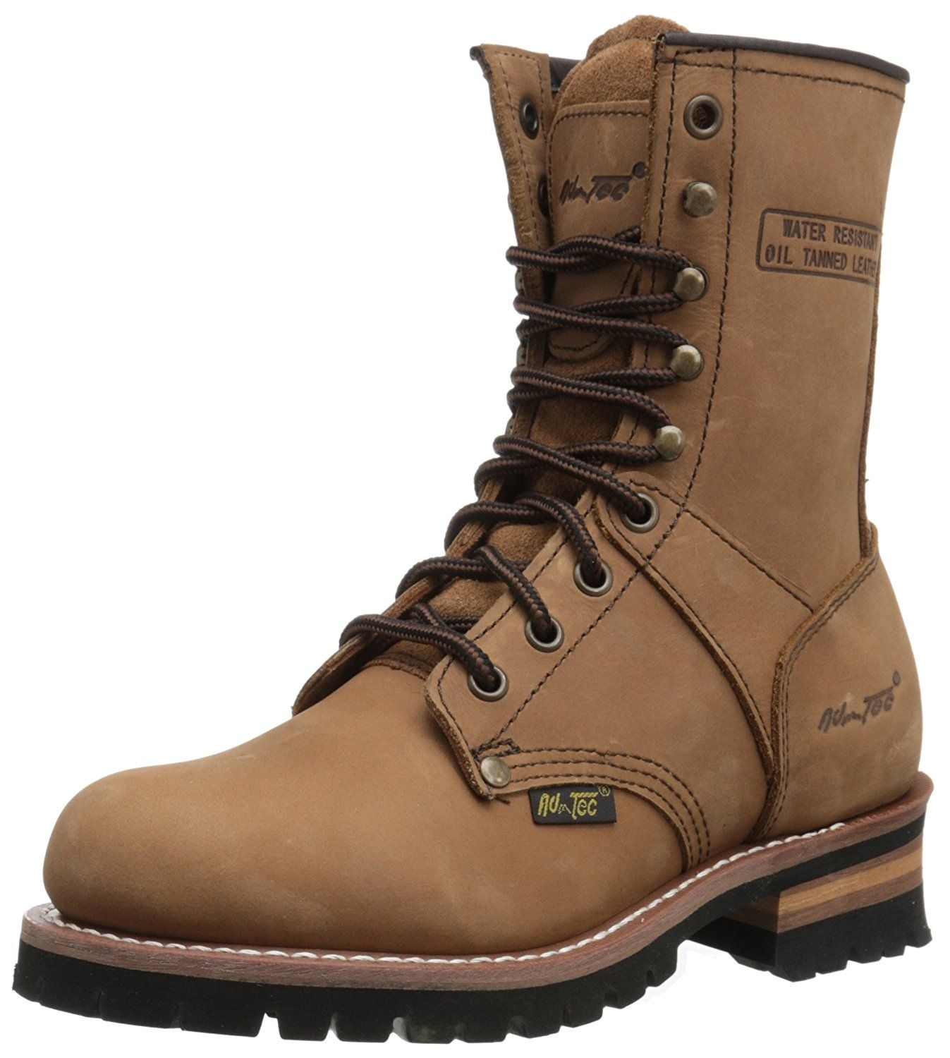 AdTec Women's 9' Logger Brown Work Boot >>> You can find more details · Crazy  HorseBrown Leather ...
