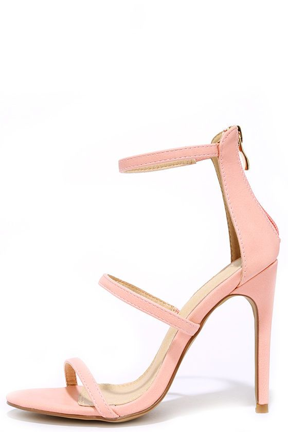 Three Love Blush Pink Dress Sandals | Unique, Designers and Blush ...