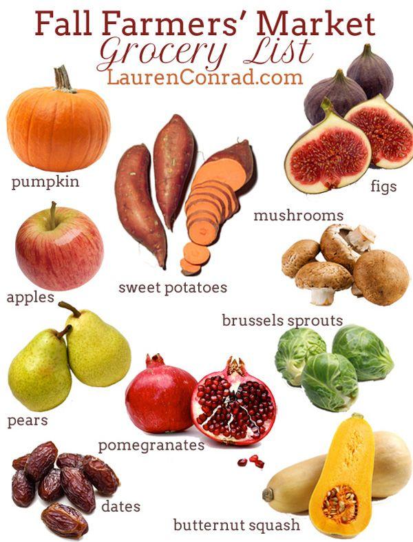 Tuesday Ten Fall Farmers' Market Grocery List Food 400 x 300