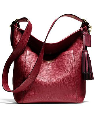 Coach Legacy Duffle In Pebbled Leather Handbags Accessories Macy S
