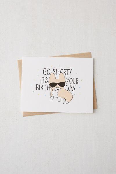Tiffbits Go Corgi Birthday Card Urban Outfitters Birthday Cards For Friends Birthday Cards For Brother Cool Birthday Cards