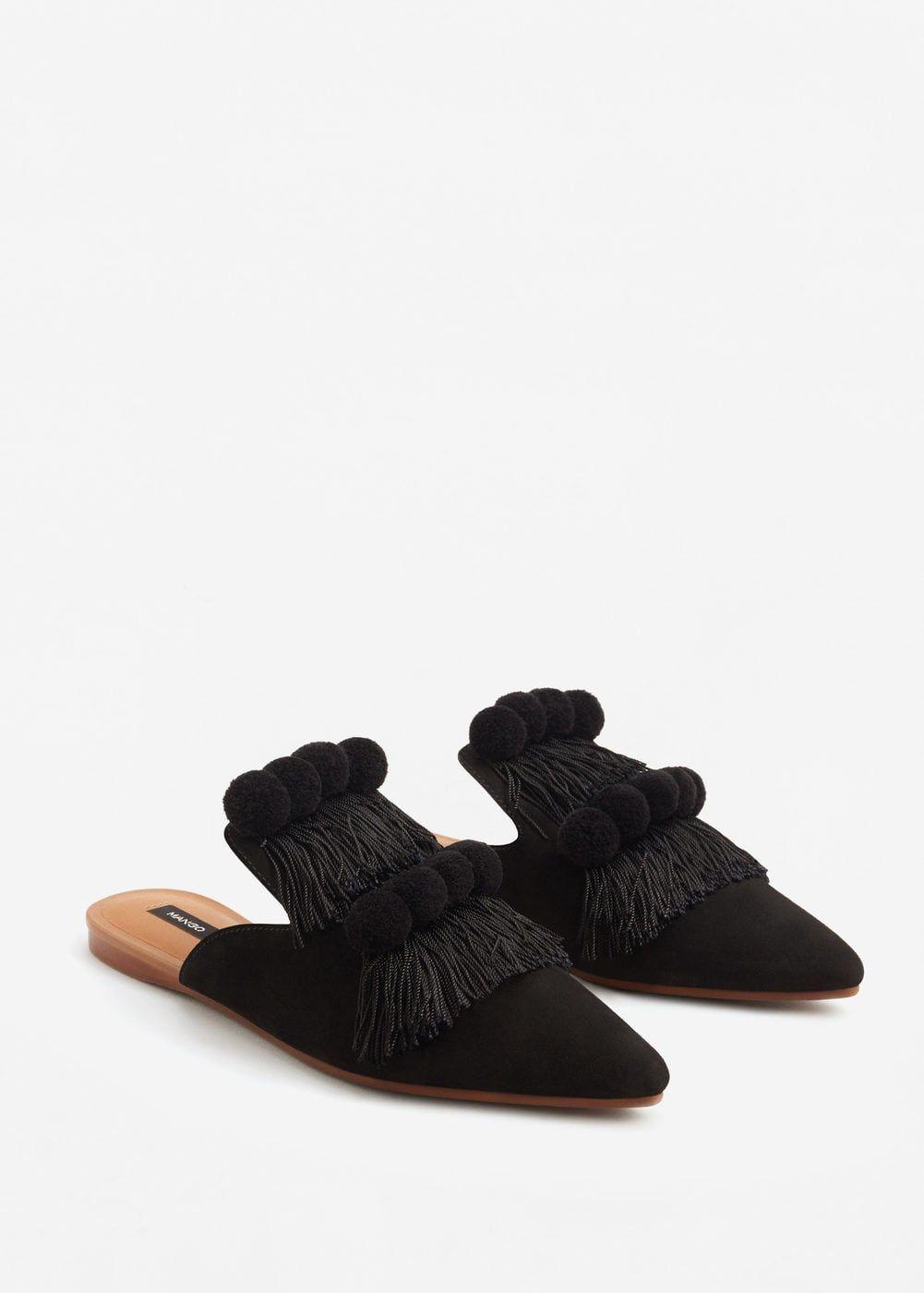 ab3e9636442 Backless fringed shoes - Women