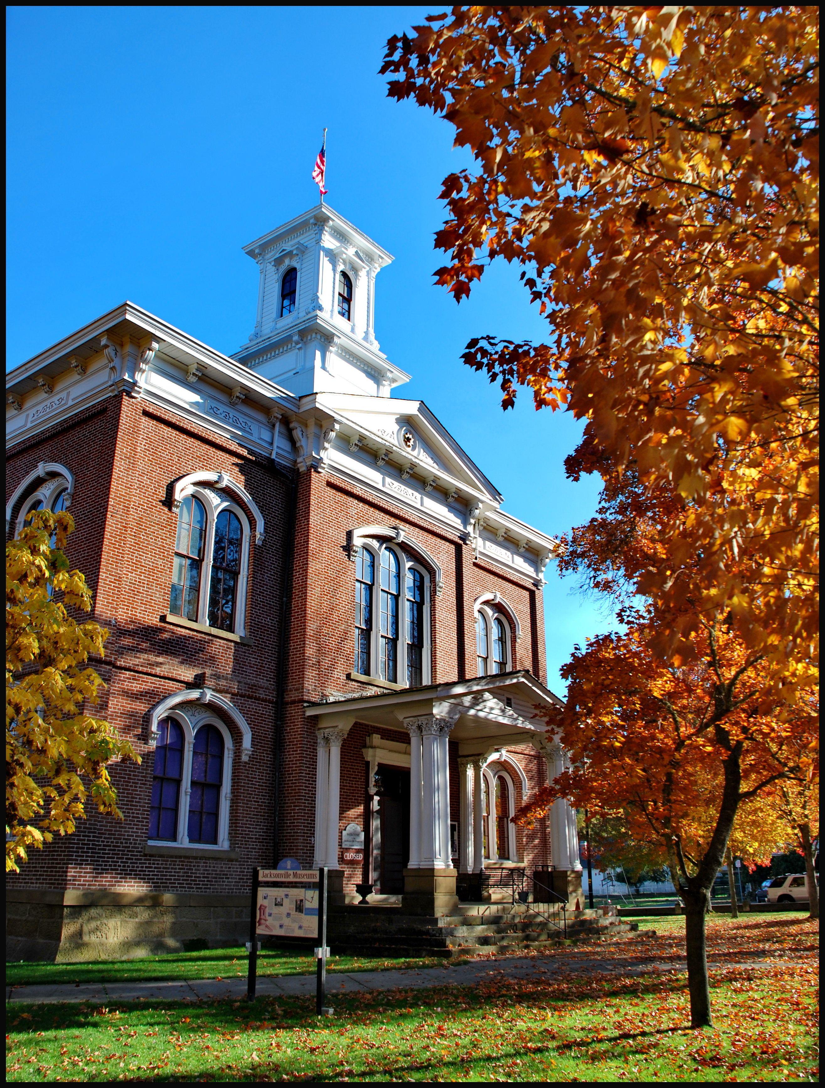 The historic original Jackson County Courthouse