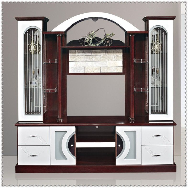 Living Room Cabinets Designs Cool Mdf Red And White Living Room Cabinet Wall Units 815Ab# Tv Cabinet Decorating Design