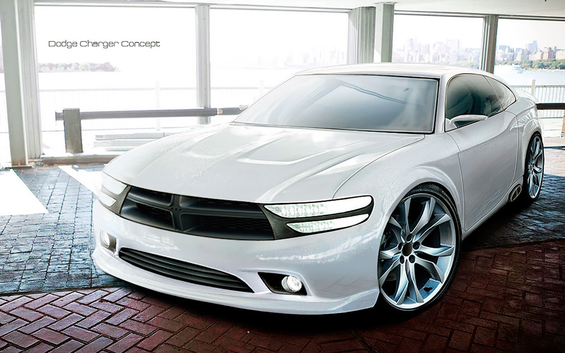 2015 white dodge charger concept car - White Dodge Charger