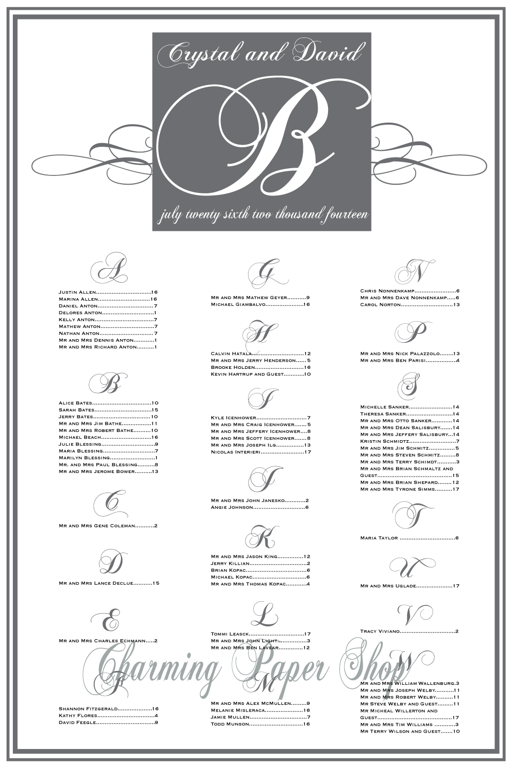 Eat Drink Be Married Seating Chart Chalkboardseatingchart