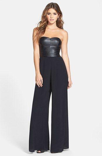 15e8318127d6 ASTR Faux Leather Bustier Jumpsuit on shopstyle.com
