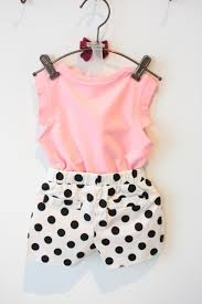 e15fdf0a5881 2015 Summer Style Baby Girls Clothing Set Sleeveless Vest Polka Dot ...