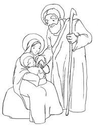Holy Family Catholic Coloring Page Family Coloring Pages