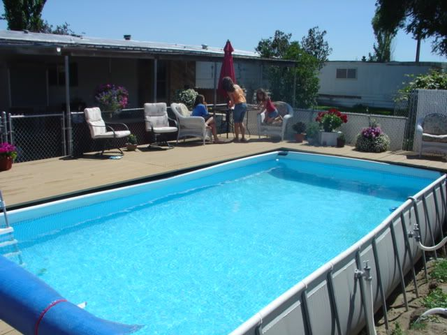 Decks for intex pools around an intex pool above ground pools trouble free pool my Square swimming pools for sale