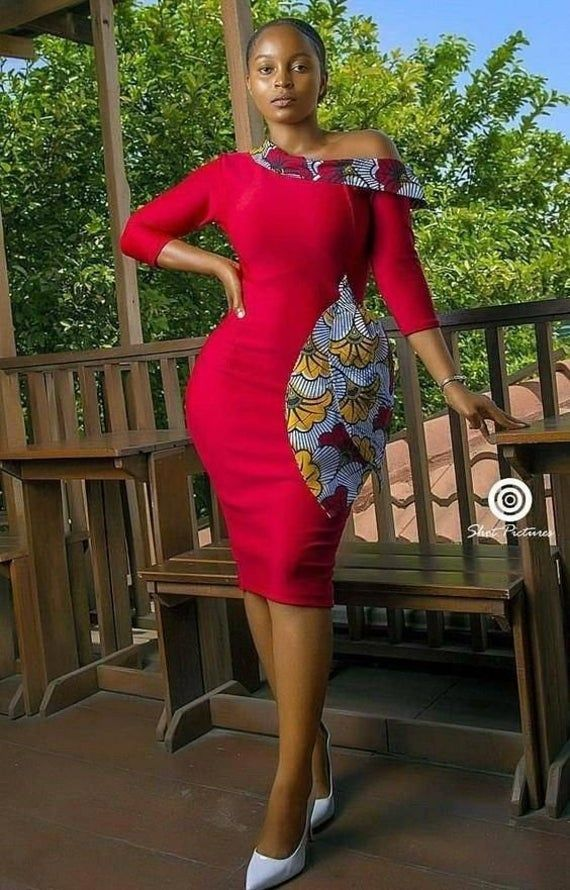 african dress, african knee length dress, ankara dress, ankara womens wear, african womens wear, ankara wedding, african wedding, prom dress #africanprintdresses