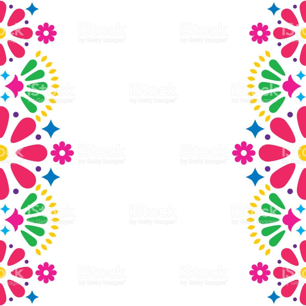 Folk Art Pattern Decor Inspired By Traditional Art Form Mexico On