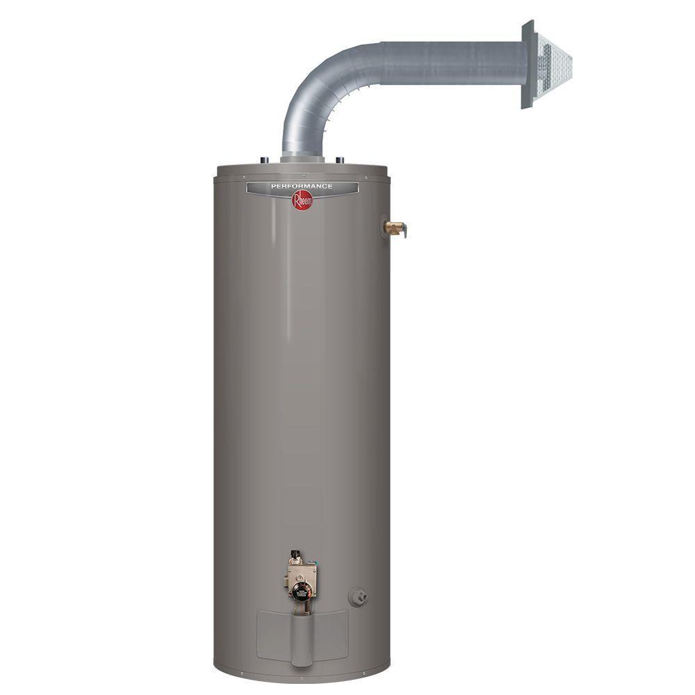 Rheem Performance 50 Gal Tall 6 Year 38 000 Btu Direct Vent Natural Gas Water Heater Xg50t06dv38u0 The Home Depot In 2020 Gas Water Heater Natural Gas Water Heater Water Heater Installation