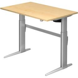 Photo of Sit-stand desk electric Xe12 120x80cm maple frame color: silver Hammerbacher