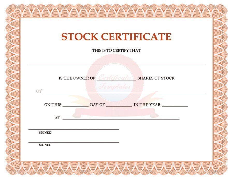 40+ Free Stock Certificate Templates (Word, PDF) ᐅ