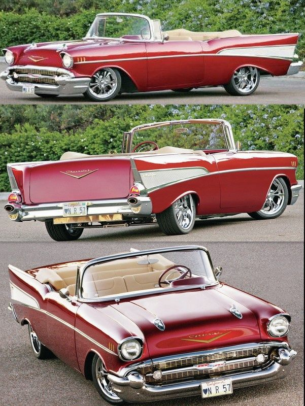 Red 57 Chevy Convertible