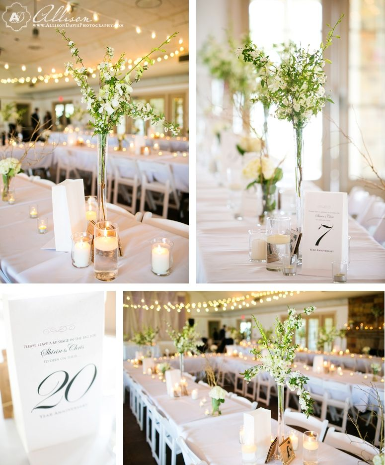 Romantic Diy Wedding Centerpieces Dallas Wedding At Winfrey Point
