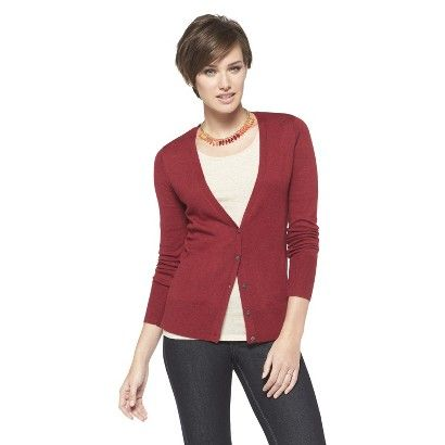 Ultrasoft Cardigan - Mossimo in a rich berry color