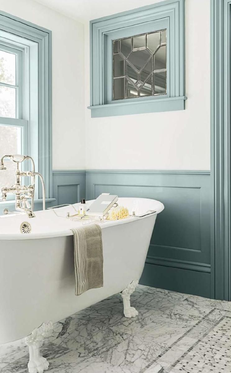 Trend Spotting: Painted Trim | Bathtubs, House and Bath