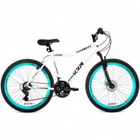 26 Inch Women S Kent Kzr Mountain Bike White Teal Blue