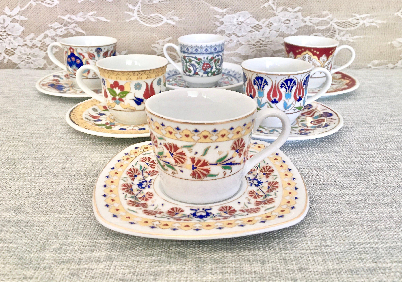 6 kutayha handmade turkish coffeeespresso demitasse cup