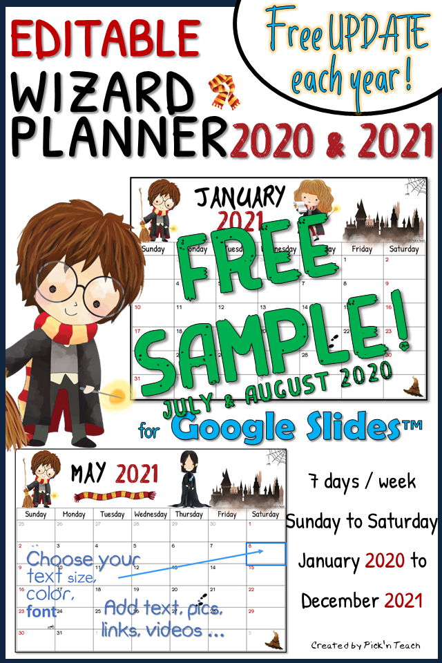 Distance Learning Editable Planners 2020 2021 For Google Slides With Free Updates Each Year Google Drive Google Docs English