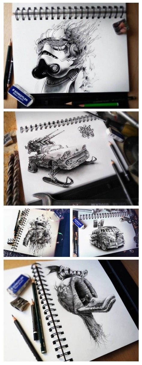 This is the latest (2013) sketchbook drawings of French illustrator Pez