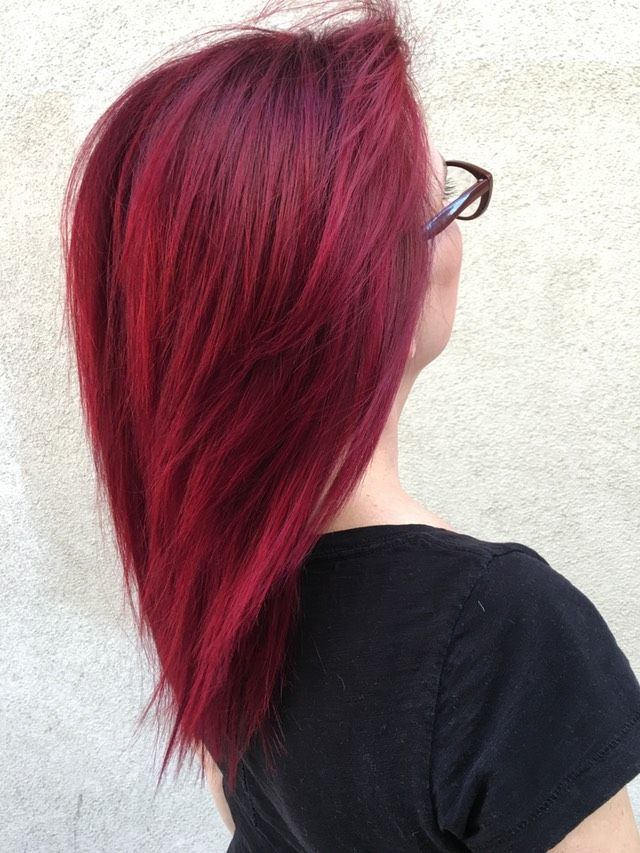 Red velvet hair coloring | Red hair color in 2019 | Red velvet hair ...