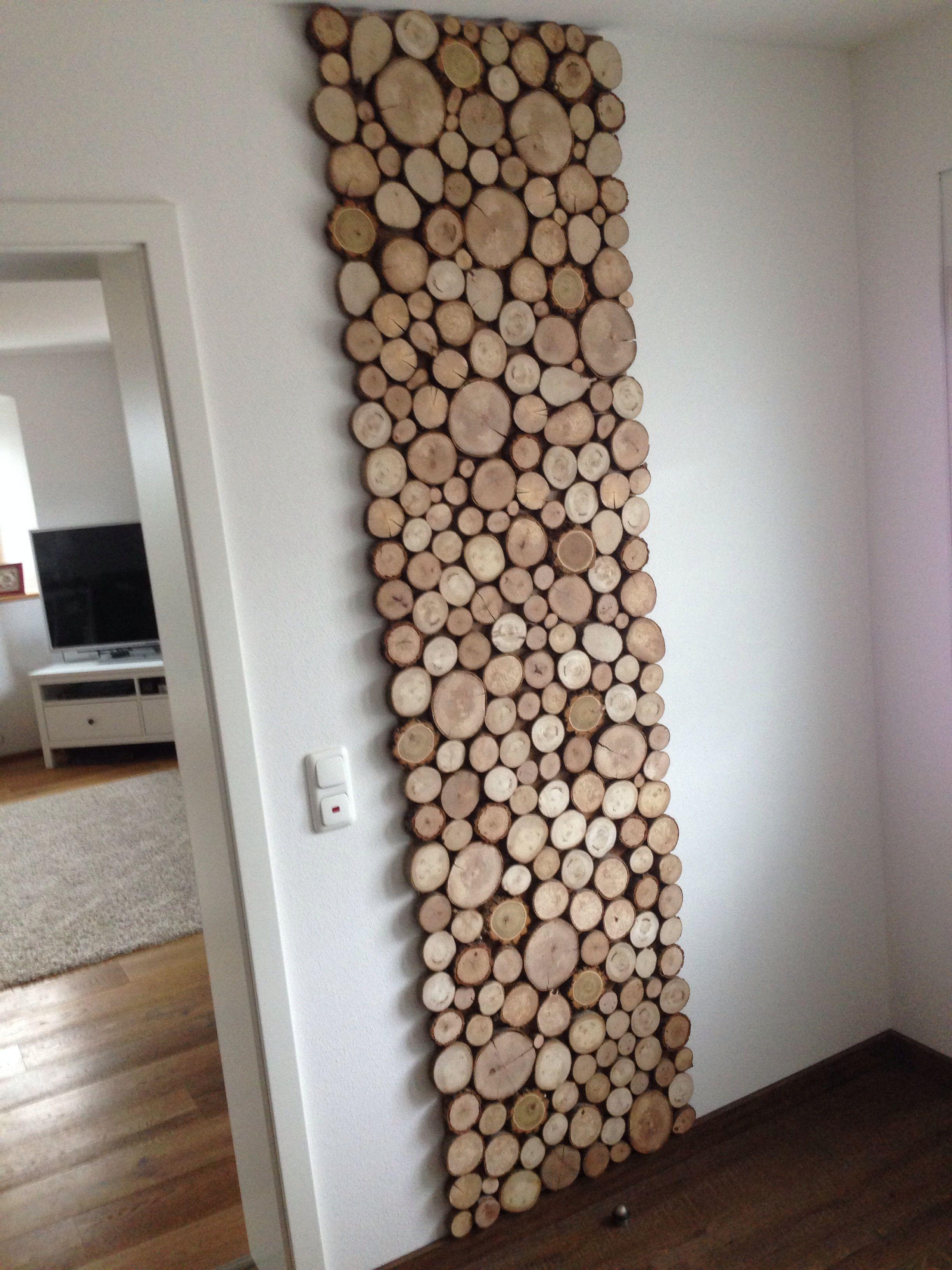 Holz Garderobe Holzscheiben Deko Naturlich Diy To Do