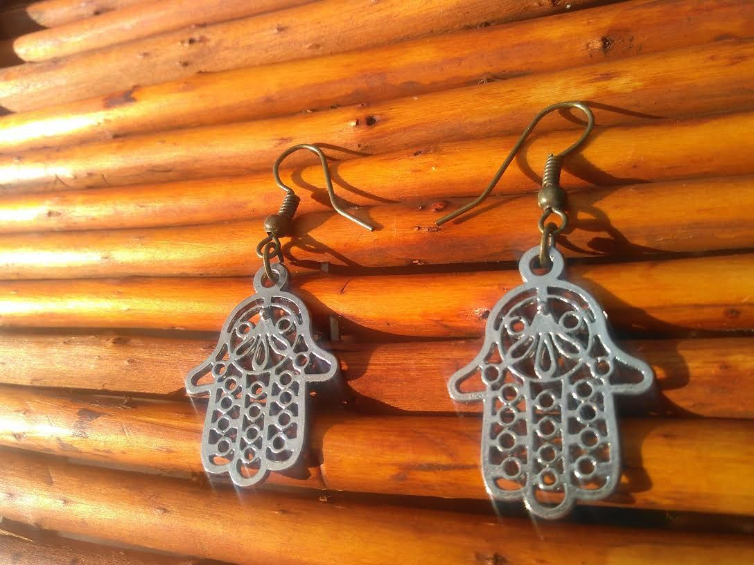 Hasma, Hasma earrings, Yoga, Meditation, Silver, Sale