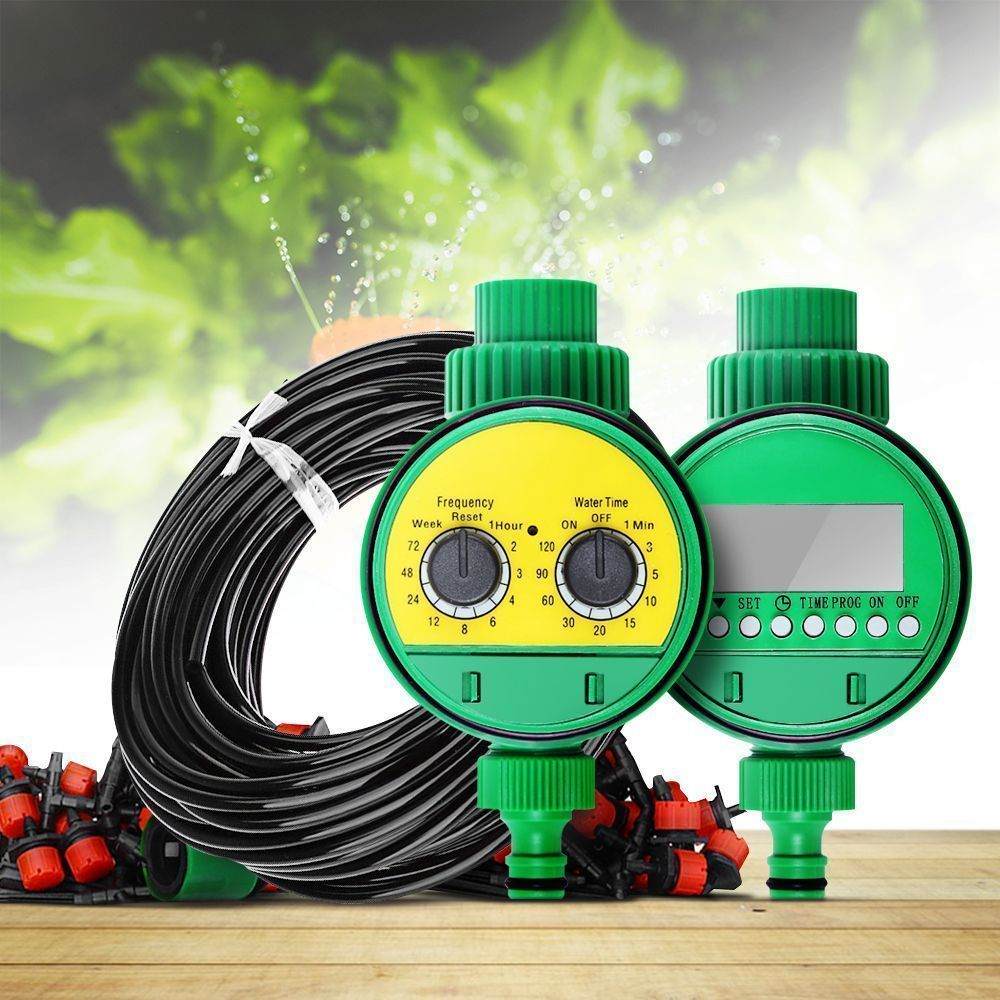 2 Choices 25m DIY Micro Drip Irrigation System Plant Self