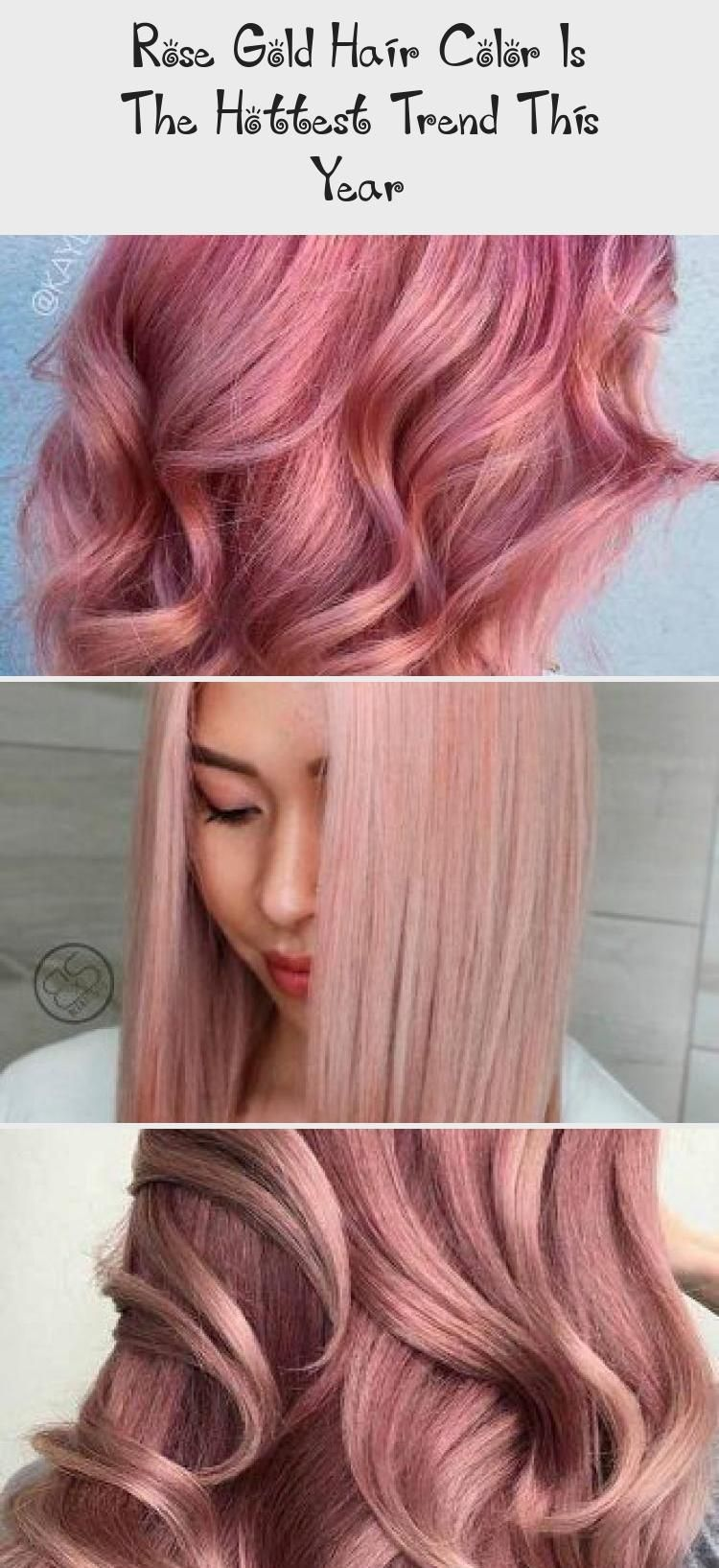 Rose Gold Hair Color Is The Hottest Trend This Year   Rose gold ...