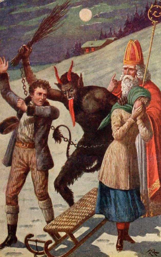 Vintage Krampus The Christmas Krampus Holiday Postcards
