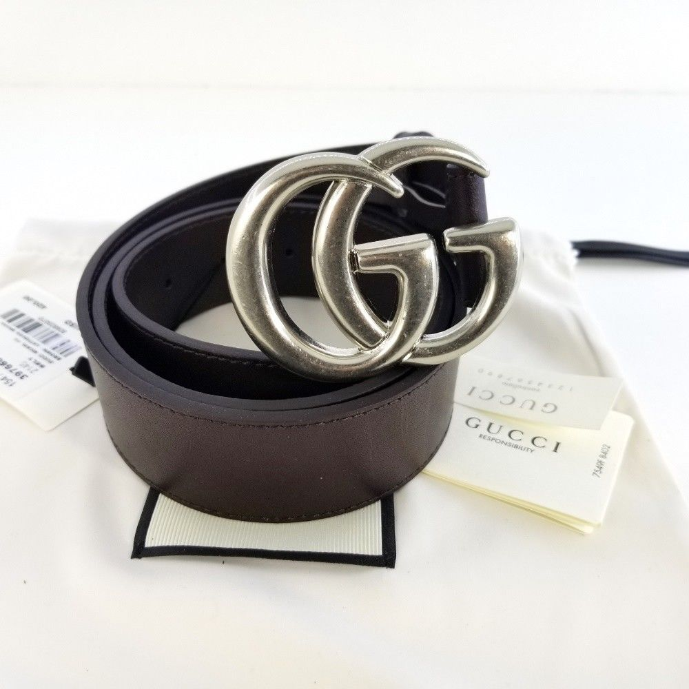 Man/'s G-Style silver Buckle-Leather Belts Pattern Jeans With Letter Buckle NEW