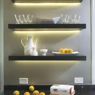 Recessed Lights In Floating Shelves Let There Be Light Floating