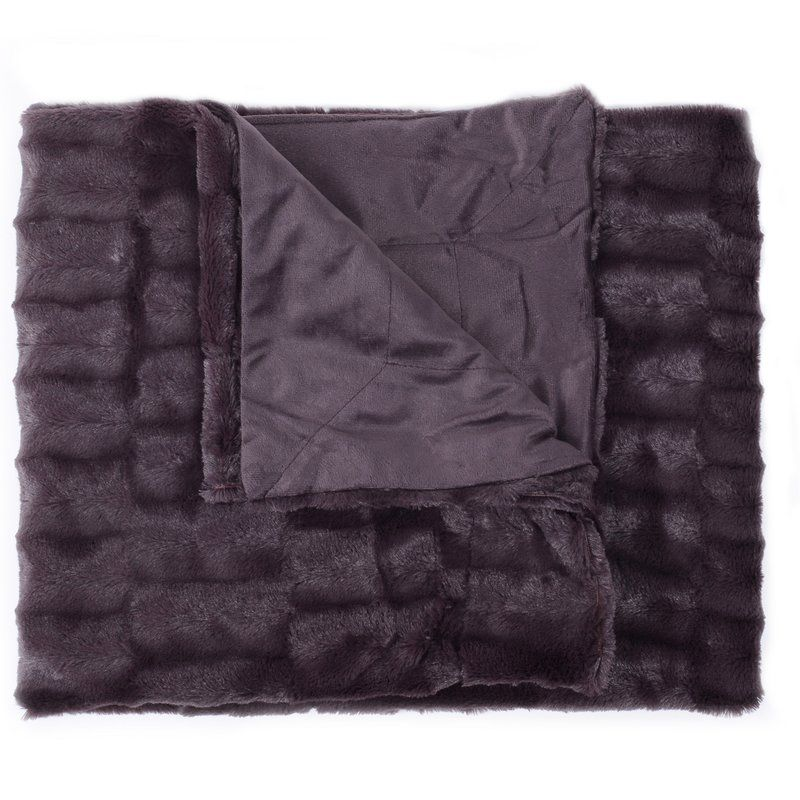 Box Decorative Reversible Faux Fur And Mink Throw Faux Fur Throw Blanket Sweet Home Collection Faux Fur Throw