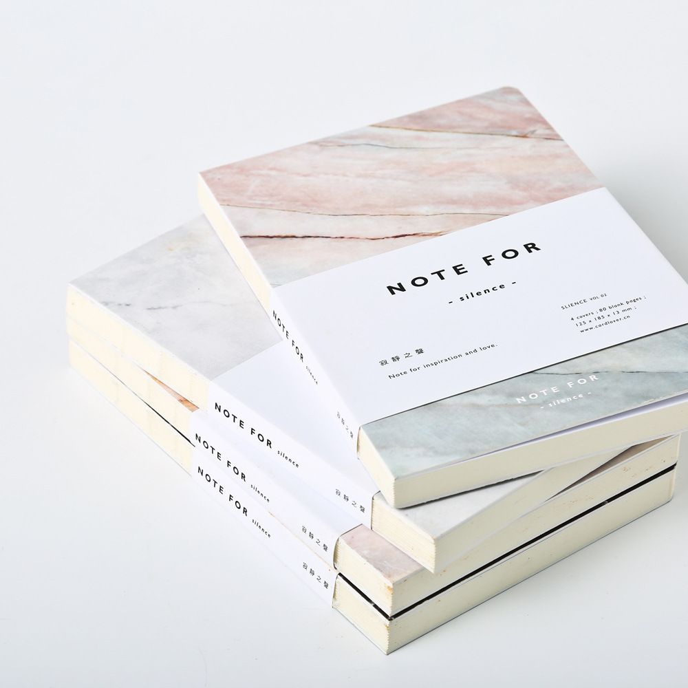 japanese cute stationery note for silence 80 pages marble