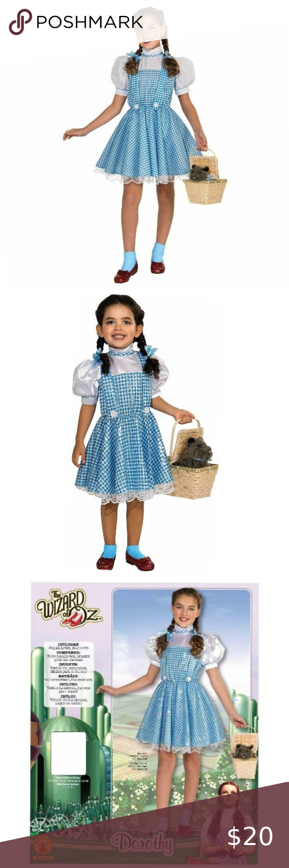 Rubies Wizard Of Oz Dorothy Sequin Costume In 2020 Sequin Costume Gingham Dress Dress Cover