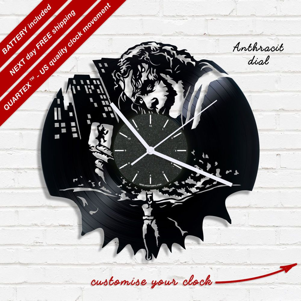 Details About Batman Joker Vinyl Record Clock Wall Clock