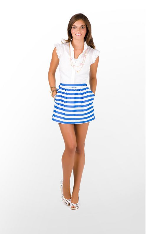 3de4efc4dd4d I need this outfit for my bridal shower! Lilly Pulitzer Mimosa Skirt and  Dusti Shirt