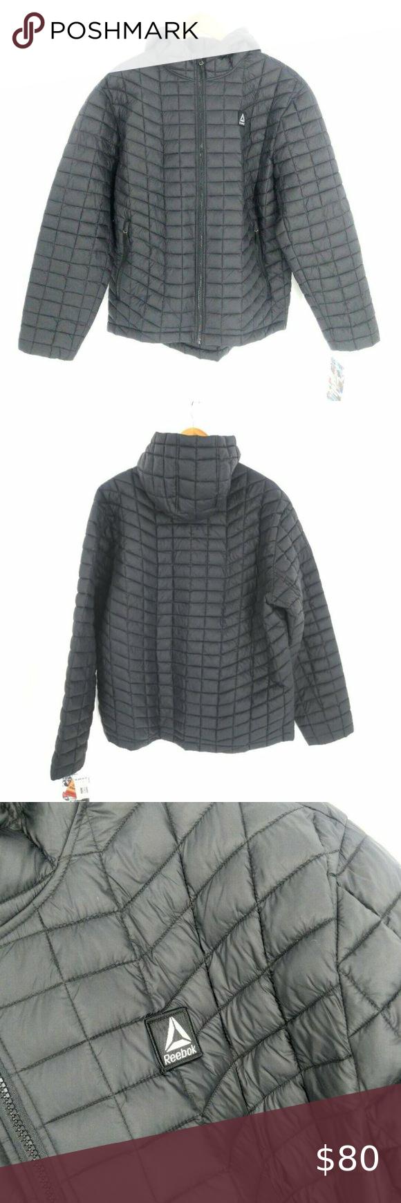 Reebok Puffer Jacket Mens Xl Black Quilted Warm Mens Xl Puffer Jackets Mens Jackets [ 1740 x 580 Pixel ]