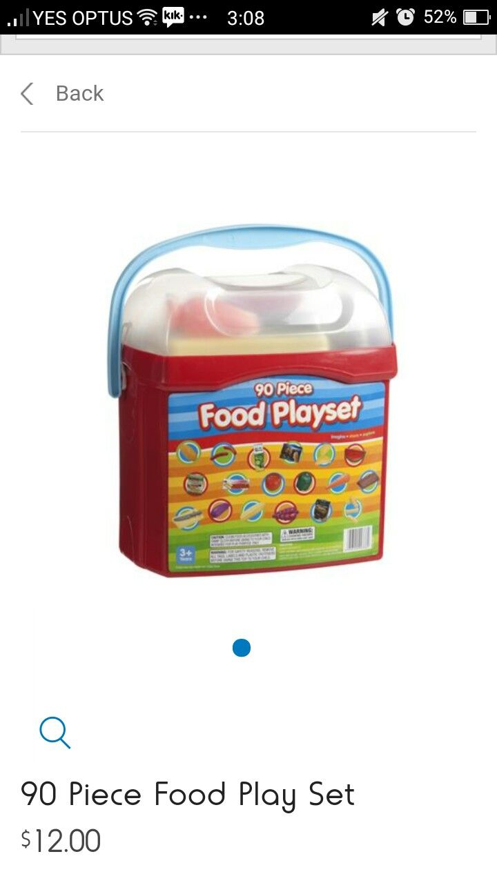 wooden play food kmart