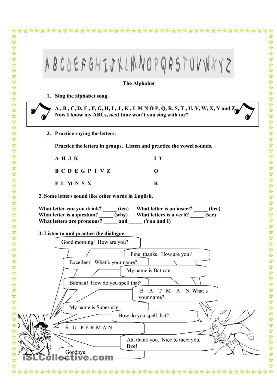 The alphabet worksheet - Free ESL printable worksheets made by teachers