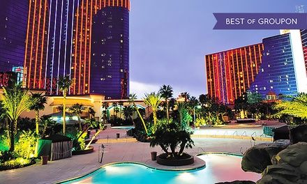 4-star all-suite hotel with 100,000 sq. ft. casino, themed restaurants, and live entertainment less than a mile from the Strip