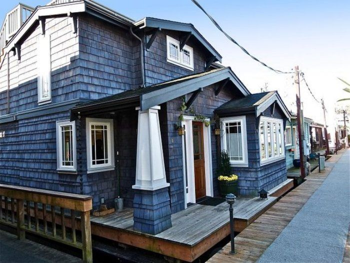 Floating Home Lake Union Seattle New Craftsman Style