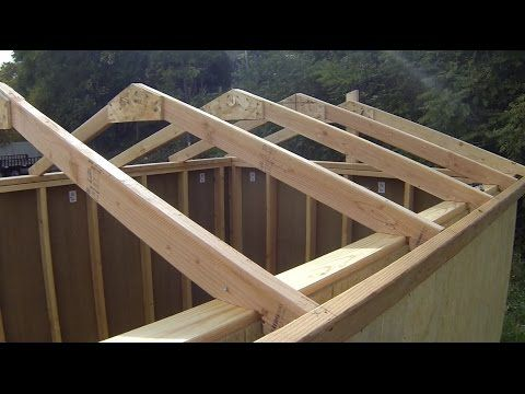 #shed #backyardshed #shedplans Building Roof truss systems for shed, barn, or a tiny house by ...