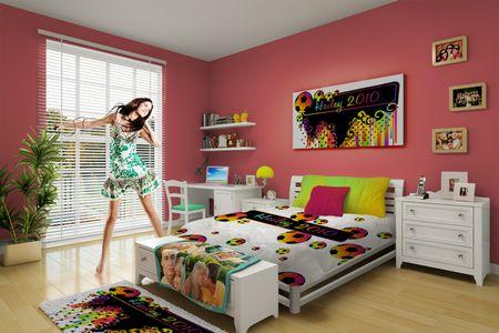 Custom girls soccer bedding Soccer bedroom Pinterest Soccer