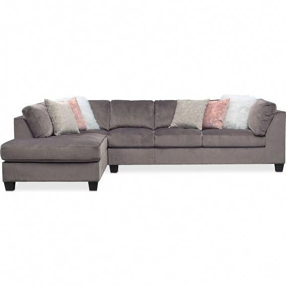 Mackenzie 2-Piece Sectional with Left-Facing Chaise - Gray Value