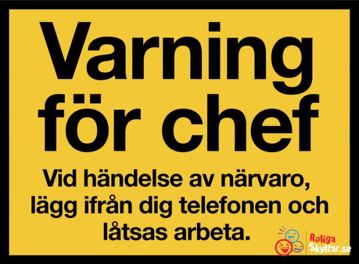 Varning For Chefen Roliga Skyltar Roligaste Citaten Roligt Citat Om Tjejer