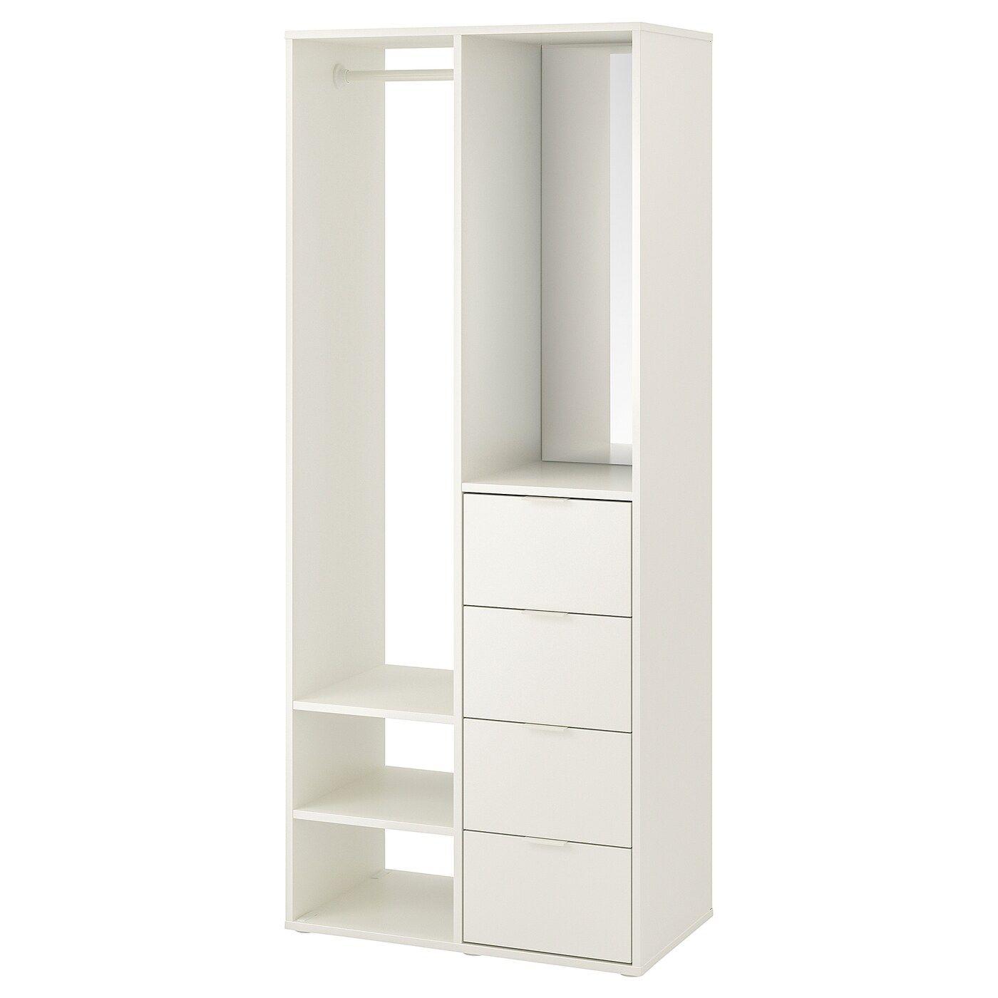 Sundlandet Open Wardrobe White 31 1 8x17 3 8x73 5 8